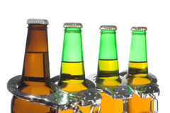 Beer and Handcuffs - Drunk Driving Concept Royalty Free Stock Photos