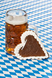 Beer with heart Royalty Free Stock Image
