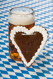 Beer with heart Royalty Free Stock Images