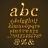 Beer, Honey and Caramel Alphabet Lower Case Italic Royalty Free Stock Photography