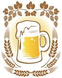 Beer and hop Royalty Free Stock Photography