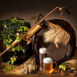 Beer Hops And Barley Stock Photo