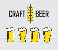 Beer house badges logos and labels for any use, logo templates and design elements for beer house Royalty Free Stock Image