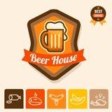 Beer house emblem Stock Image