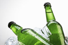 Beer on ice Royalty Free Stock Images