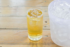 Beer and ice Royalty Free Stock Photo