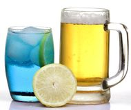 Beer and iceberg drink Stock Image