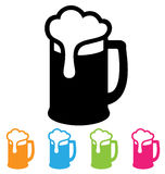 Beer icon. Beer mug icon isolated on white Royalty Free Stock Images