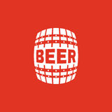 The Beer icon. Cask and keg, alcohol, Beer symbol. UI. Web. Logo. Sign. Flat design. App. Stock royalty free illustration