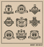 Beer icon chalkboard set Stock Photo