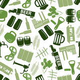 Beer icon color pattern Stock Photography