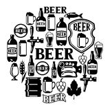 Beer icon and objects set for design Stock Image