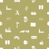 Beer icon pattern Royalty Free Stock Photos