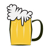 Beer icon pictogram Royalty Free Stock Photos