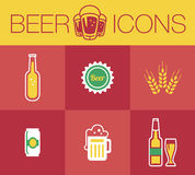 Beer, Icon set Stock Photography