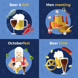Beer Icon Set Royalty Free Stock Photos
