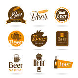 Beer icon set. A set of icons that can be used in alcoholic beverages and menu Stock Photos