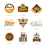 Beer icon set. A set of icons that can be used in alcoholic beverages and menu Royalty Free Stock Image