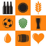 Beer. Icon Set Stock Image