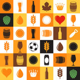 Beer, Icon set Stock Images