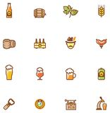 Beer icon set Stock Photos