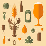 Beer, Icon set Royalty Free Stock Images
