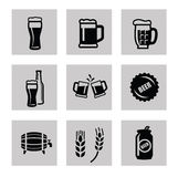 Beer icon Stock Photography