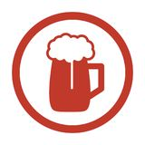 Beer Icon on white background. Vector illustration Stock Photography
