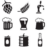 Beer Icons. This image is a vector illustration and can be scaled to any size without loss of resolution Stock Photos