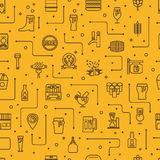 Beer icons background Stock Images