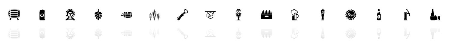 Beer - Flat Vector Icons stock illustration