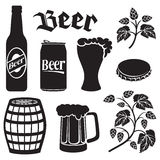 Beer icons se Royalty Free Stock Photo