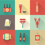 Beer Icons Set Stock Photo