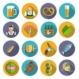Beer Icons Set Flat Royalty Free Stock Photography