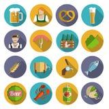 Beer Icons Set Flat vector illustration