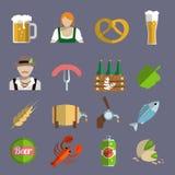 Beer icons set flat Stock Photo