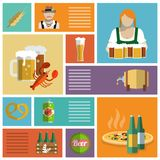 Beer icons set flat Stock Images