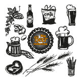Beer Icons Set. Royalty Free Stock Images