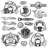 Beer icons set Royalty Free Stock Images