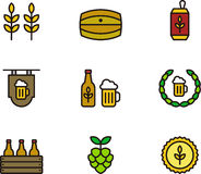 Beer icons Royalty Free Stock Image