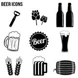 Beer icons set Stock Images