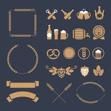 Beer icons and signs Royalty Free Stock Photo