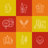 Beer Icons Royalty Free Stock Photography