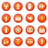 Beer icons vector set Royalty Free Stock Photos