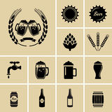 Beer Icons Royalty Free Stock Photos