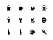 Beer icons on white background. Vector illustration Stock Images