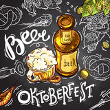 Beer illustration Stock Illustration