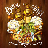 Beer illustration Royalty Free Stock Photos