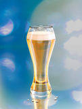 Beer illustration, blonde ale draft in a glass Stock Photos