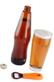 Beer In Bottle With Bottle Opener. Stock Photo